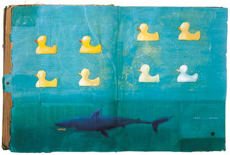 spread van Oliver Jeffers in 'Look at Book'