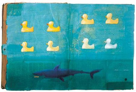 spread van Oliver Jeffers in 'Look at Book'