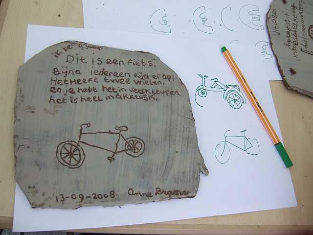 kleitablet fiets