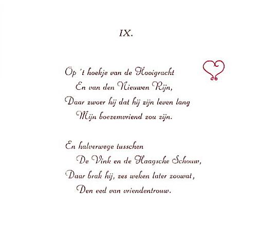 Piet Paaltjens, Immortelle IX