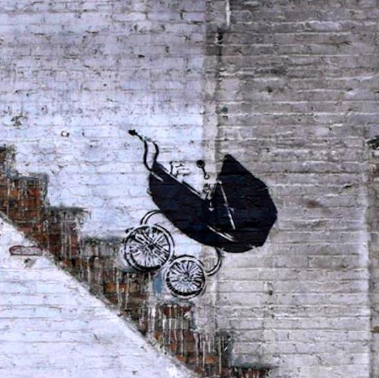 Banksy pram Chicago