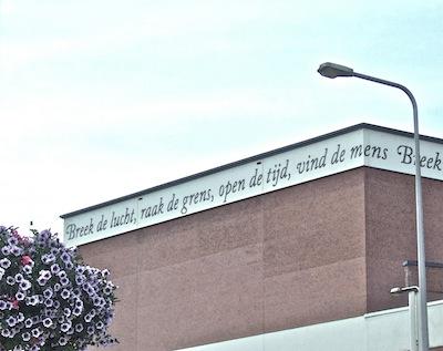 Spreuk Alied van der Meer (foto: Judy Elfferich)