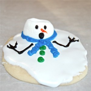 Melted snowman cookie - foto: crazy domestic