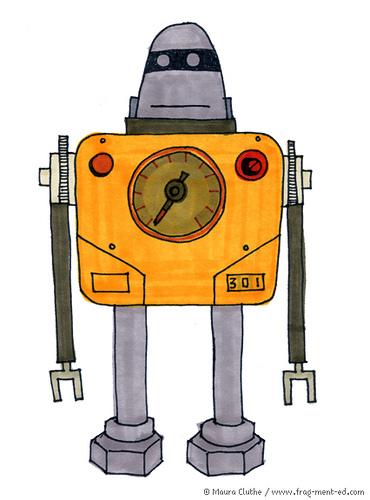 Gele robot met rond hoofd - fragmented @ Flickr, CC by-nc-nd