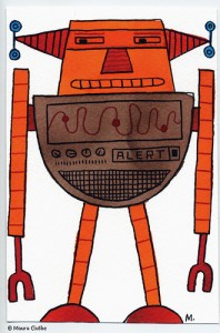 Oranje robot - fragmented @ Flickr, CC by-nc-nd
