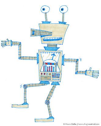Robot met ogen op steeltjes - fragmented @ Flickr, CC by-nc-nd