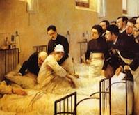 Luis Jiménez Aranda, La visita al hospital