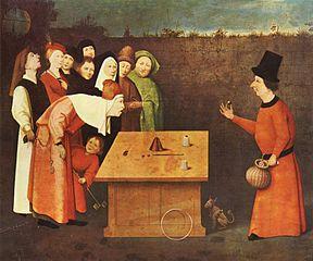 De goochelaar, toegeschreven aan Jeroen Bosch