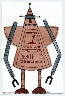 Bruine robot met punthoofd - fragmented @ Flickr, CC by-nc-nd