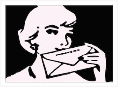 Nieuwsbriefmeisje