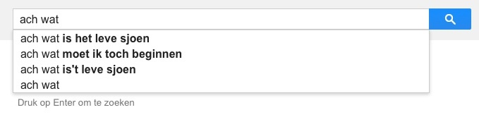ach wat (Google-poëzie)
