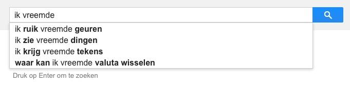 ik vreemde (Google-poëzie)