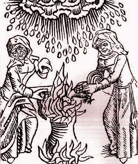 Heksen roeren in hun ketel