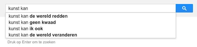 kunst kan (Google-poëzie)