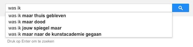 was ik (Google-poëzie)