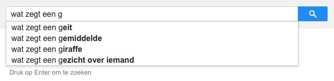 wat zegt een g (Google-poëzie)