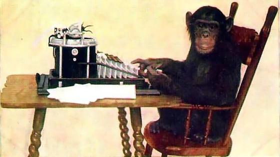 Dichtende aap