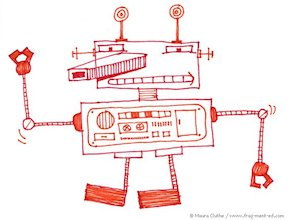 Rood-witte robot - fragmented @ Flickr, CC by-nc-nd