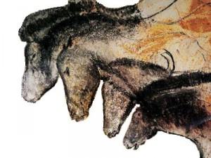 paarden, prehistorische kunst in de grot van Chauvet