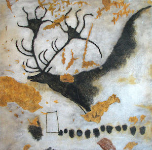 Reuzenhert, prehistorische kunst in de grot van Lascaux