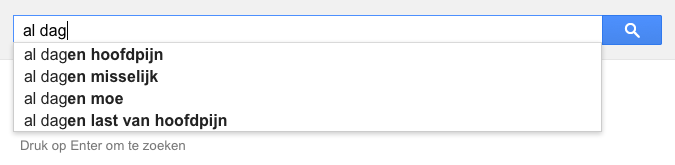 al dag (Google-poëzie)