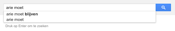 arie moet (Google-poëzie)