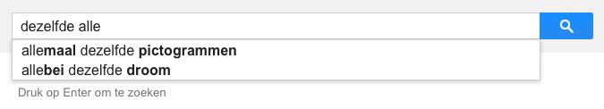 dezelfde alle (Google-poëzie)