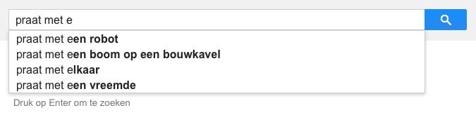 praat met e (Google-poëzie)