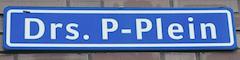naambord Drs. P-plein