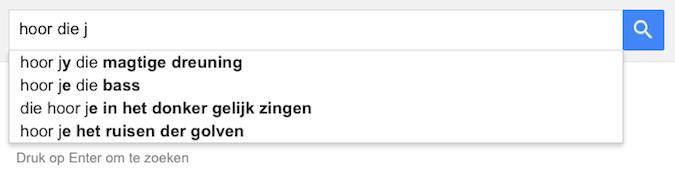 hoor die j (Google-poëzie)