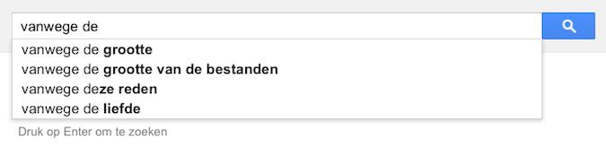 vanwege de (Google-poëzie)