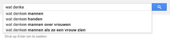 wat denke (Google-poëzie)