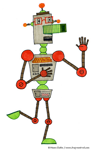 Robot met vingers - fragmented @ Flickr, CC by-nc-nd
