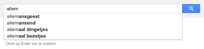 allem (Google-poëzie)