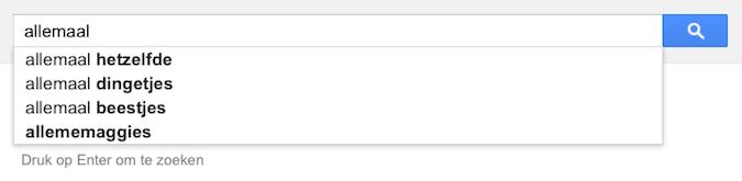 allemaal (Google-poëzie)