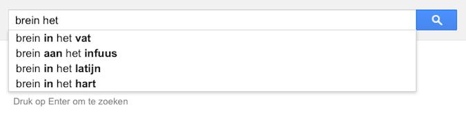 brein het (Google-poëzie)