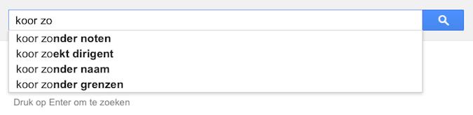 koor zo (Google-poëzie)