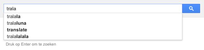 trala (Google-poëzie)