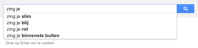 zing je (Google-poëzie)