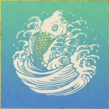 vis met gouden schubben