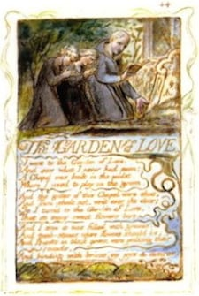 The Garden of Love, vormgegeven en geïllustreerd door William Blake zelf