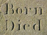 Born, died