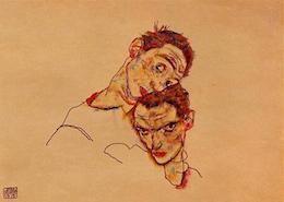 Egon Schiele, dubbel zelfportret (1915)