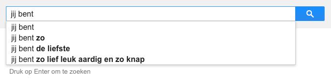 jij bent (Google-poëzie)