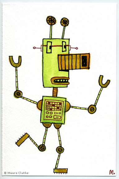 Lichtgroene robot - fragmented @ Flickr, CC by-nc-nd